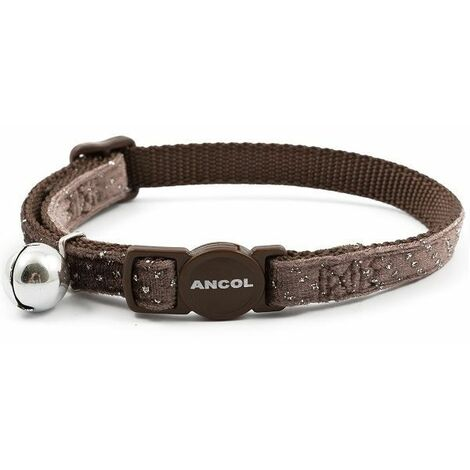 671000 - Velvet Sparkle Safety Cat Collar - Brown