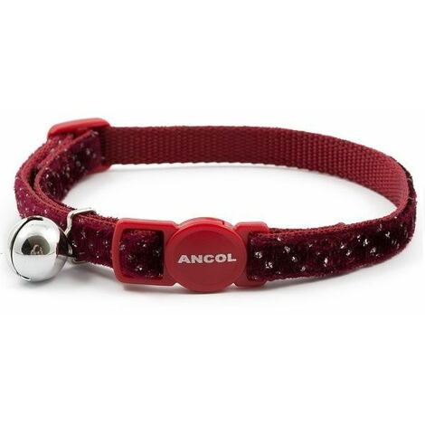 671020 - Velvet Sparkle Safety Cat Collar - Red