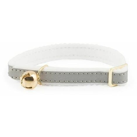 672790 - Reflective Cat Collar with Safety Elastic Silver