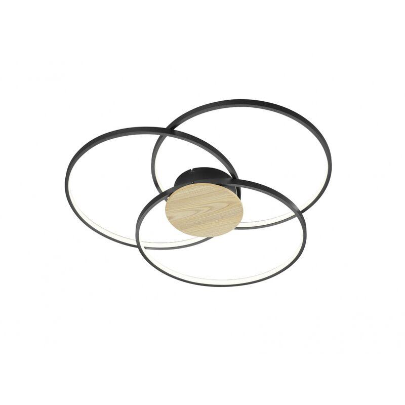 673210332 Deckenleuchte Sedona schwarz matt LED 40W 3000K Durchm. ca. 80 cm-