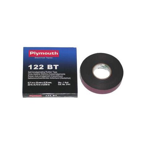 6,7m. cinta de caucho autoamalgamante negra 19 mm. (Plymouth 2141)