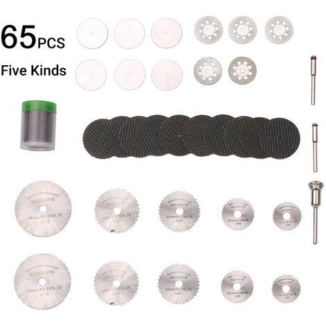 67Pcs Diamant Coupe Disques Abrasifs Meule Hss Scie Circulaire A Bois En Metal Dremel Mini Forage Rotatif Accessoires Outil