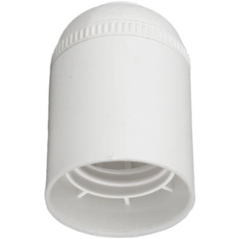 Portalámparas cuerpo liso blanco E27 (Solera BT6829CLB) (Blíster)