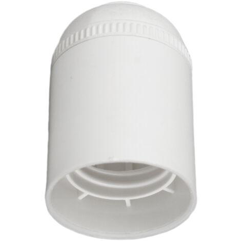 Portalámparas cuerpo liso blanco E27 (Solera 6829CLB-U) (Embolsado)