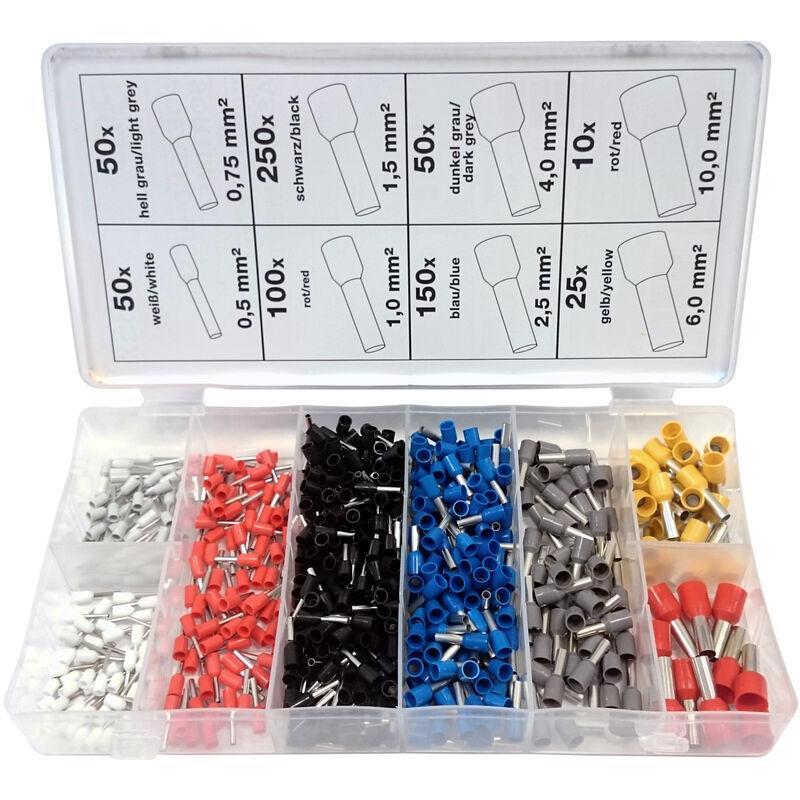 1200 Stück Aderendhülsen-Sortiment isoliert 0,5-10mm² Adern Endhülse Kabelschuhe