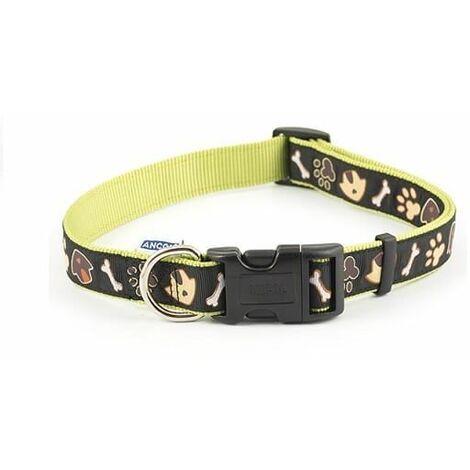 688630 - Dog & Kennel Nylon & Ribbon Adj Coll 45-70cm Sz5-9