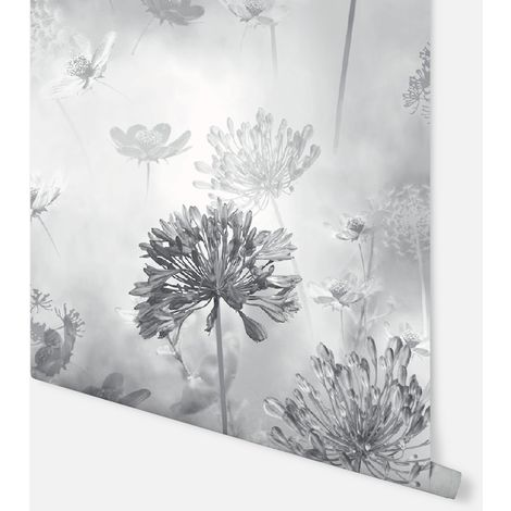 697401 - Spring Meadow Mono - Arthouse Wallpaper