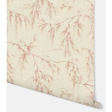 698208 - Willow Tree Neutral/Rust - Arthouse Wallpaper