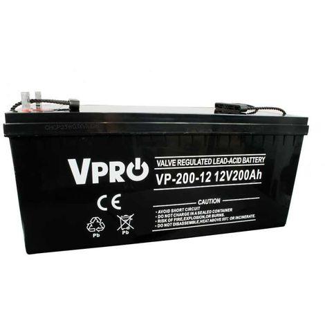 6AKUAGM200 AGM batterie 12V 200Ah