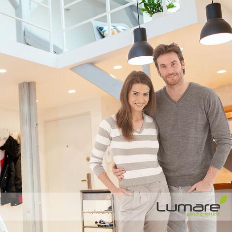 6er Set Lumare LED Einbaustrahler Dimmbar 6W 230V IP44 Ultra flach Set Wohnzimmer, Badezimmer Einbauleuchten, weiss, 26mm Einbautiefe, Mini Slim Decken Spot, warmweiß