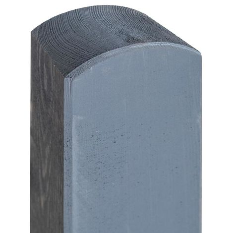 "6ft 2in Painted grey post 4"" (90x90mm) ONLY AVAILABLE WITH A PURCHASE OF 3 FENCE PANELS"
