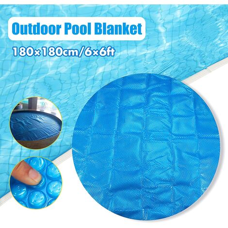 6ft / 7ft piscine ronde / carrée couverture de bain à remous couverture couverture de Spa garder au chaud protecteur de Spa capuchon anti-UV extérieur anti-poussière Rond 180x180cm