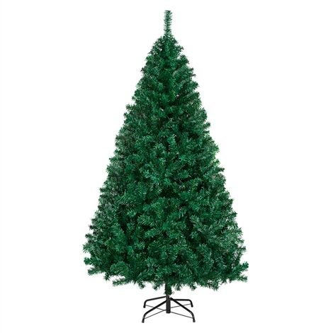 6ft Christmas Tree 1000 Tips Artificial Christmas Tree Hinged Spruce Xmas Tree with Foldable Stand