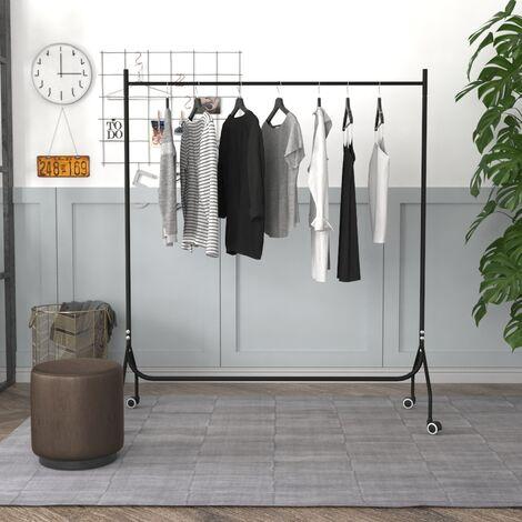 6ft Garment Clothes Rail Metal Rack Home Shop Display Stand