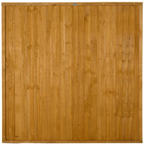 6ft High Closeboard Wooden Fence Panel