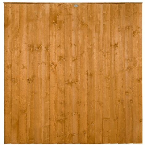 6ft High Featheredge Heavy Duty Fence Panel