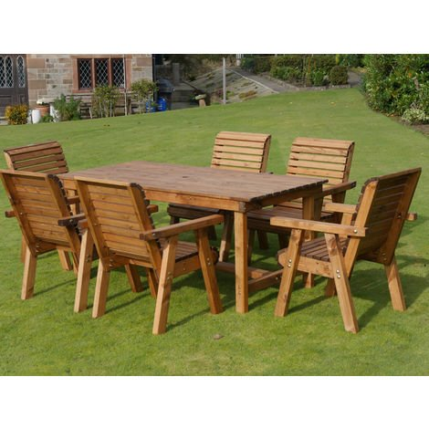 6ft Table + 6 Chairs Flatpack