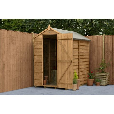 6ft x 4ft Security Overlap Apex Garden Shed (1.8m x 1.3m) - Modular - CORE