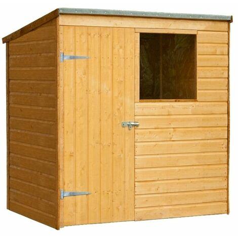 6ft x 4ft Shiplap Wooden Pent Shed (1.8m x 1.3m)