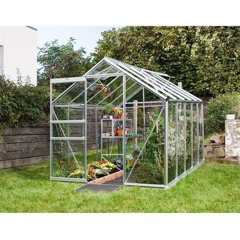 6ft x 8ft Premier Low Threshold Aluminium Frame Greenhouse