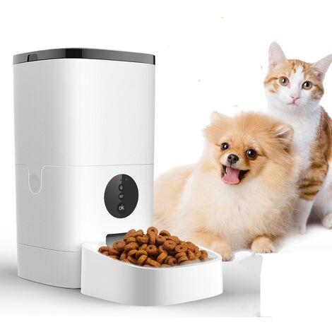"""main image of """"6L WIFI Automatique Distributeur Croquettes Nourriture Chien Chat Enregistrement Gamelle Animal de compagnie APP Controle EU prise SwagX"""""""