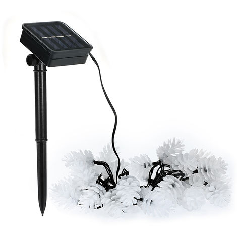 6m 30led solar light string with 2 functions and 8 blinking modes warm white