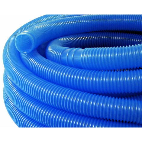 6m 38mm Tuyau de piscine BLEU Tuyau flottant sections préformées - Bleu