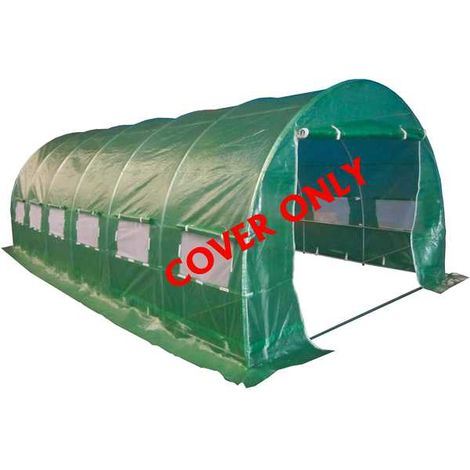 BIRCHTREE 6M(L) x 3M(W) x 2M(H) Polytunnel Greenhouse Pollytunnel 6 Section Cover Only