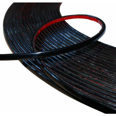 6mm 4.5m Bande baguette adhésive couleur noir