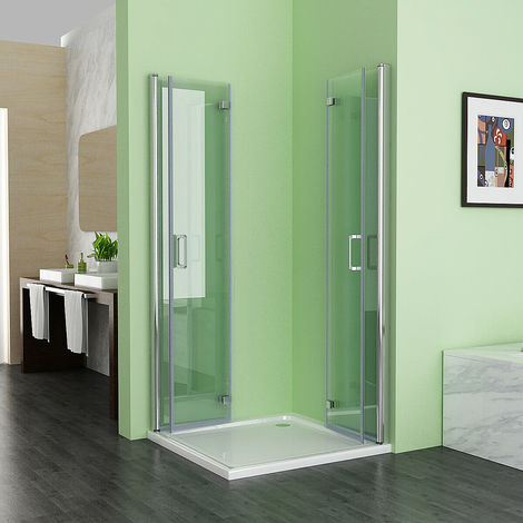 6mm Safety Easy Clean Nano Glass Shower Enclosure Cubicle Door Corner Entry Bathroom Bifold Door Frameless