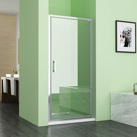 6mm Safety Nano Glass Pivot Shower Enclosure Door Shower Cubicle 1850 mm Height - No Tray