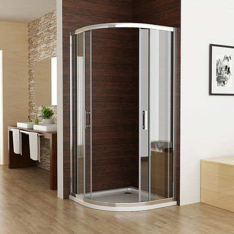 6mm Sliding Door Nano Easyclean Glass MIQU Offset Quadrant Shower Enclosure and Tray Corner Cubicle