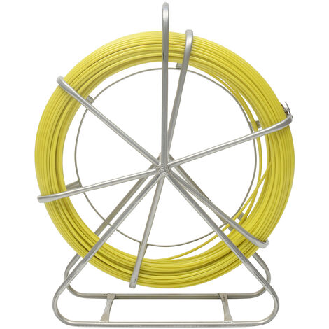 6mm X 100m Fiberglass Wire Cable Puller Kit Running Rod Wheel Stand