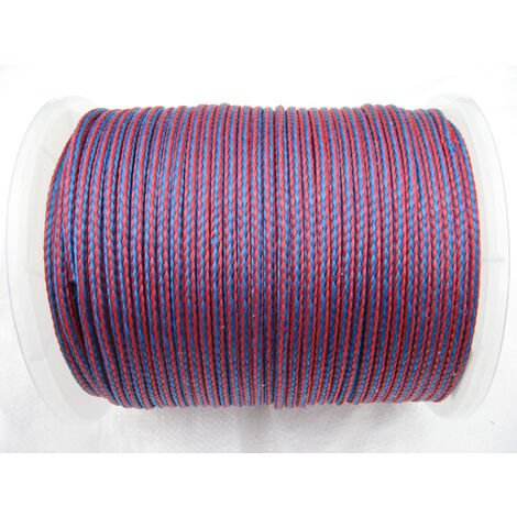 6MM x 175 Metre Blue/Red 16 Plait Single Braided PolyPropylene Rope - PP Hollow
