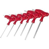 6pc Anti Tamper Security Hex Allen Key Set T-handle Long Arm Keys