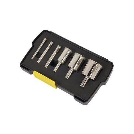6pc Diamond Tile Hole Cutter Holesaw 6 - 35mm Saw Set