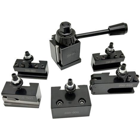 """main image of """"6Pcs 250 Cuniform Type De Changement Rapide D'Outils Porte-Outils Porte-Set Avec 6-9"""" Tour Swing"""""""