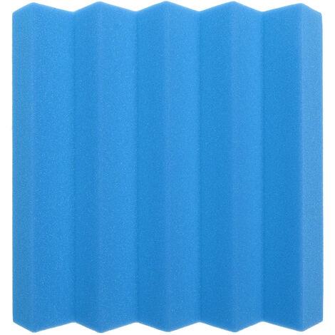 """6pcs Acoustic Wedge Foam Tile Sound Absorption Panel 10*10*2"""" Blue"""