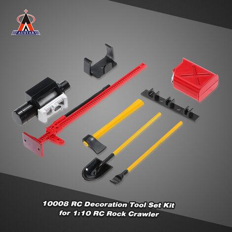 6Pcs Austar 10008 Rc Decoration Tool Set Kit Rc Accessoires Pour 01H10 Rc Rock Crawler, Rouge