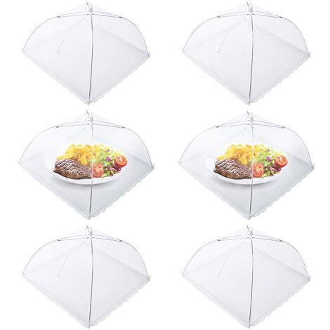 """main image of """"6pcs Folding Fly Food Bell Folding Mesh Food Cover Tent Umbrella Insect Repellent Mosquito Repellent Protection for Barbecue Picnic Food 44x44x30cm"""""""