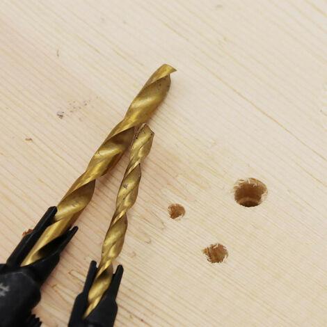 6pcs Foret à fraiser pour le travail du bois Ensemble de forets de forage de trous pilotes Noir