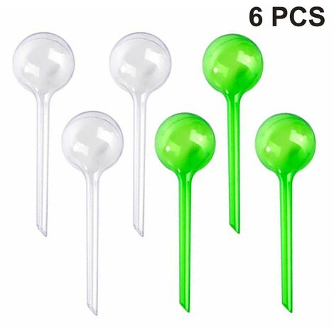 6pcs Plastic ball automatic watering device, lazy watering device, travel drip, suitable for potted plants