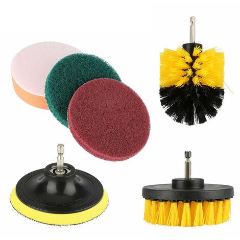 6Pcs Scrub Drill Brush Kit Polyvalent Accessoires De Nettoyage Pour Perceuse Electrique Nettoyage En Profondeur Tout Usage