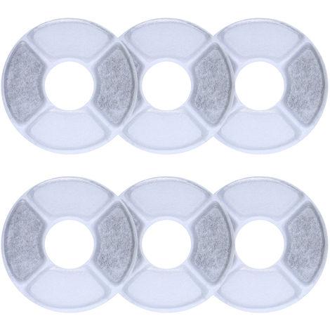 6pcs / set, filtros de carbon activado, para dispensador de agua para mascotas