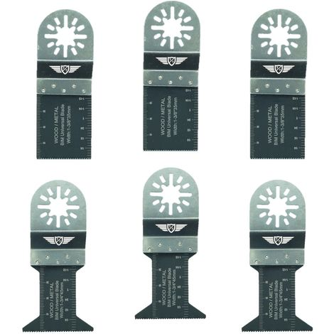 6pcs TopsTools Bi-Metal Multitool Blades - UNK6BMX
