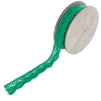 6Pcs x 5 Meter Christmas Ribbon Decoration Decor Craft Supplies Festive Green Lace Present Wrap