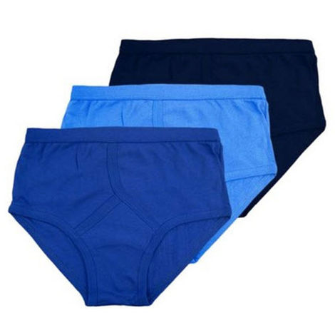 6pk Mens Classic 100% Cotton Y Style Front Briefs Underwear
