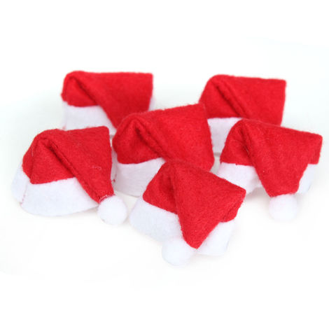 6pz Mini custodia per cappello di Babbo Natale Cover Lollipop Candy Deco fai-da-te LAVENTE
