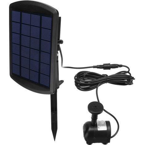 6V 1.8W Kit Pompe Fontaine à Eau Panneau d'énergie solaire Q200L/H H150cm Fontaine de Jardin