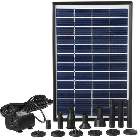 6W pompe solaire étang pompe pompe solaire fontaine jardin eau caractéristique 12V 500L / H